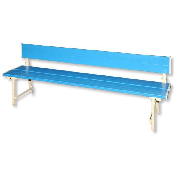 201027600180_ベンチ背付プラスチック-ブルー-a