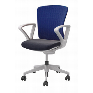 201015800001オフィスチェア(回転椅子)肘付 布ハイバック