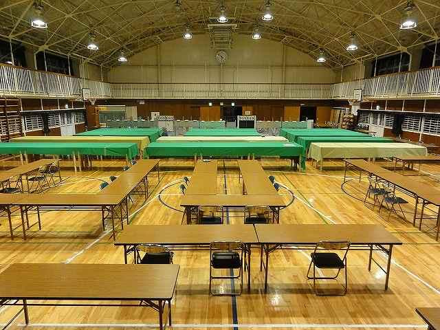 小学校の体育館に開票所を設置【レンタル】