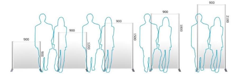 Eパネルw900高さ比較イメージ
