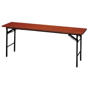 201032800181会議テーブル棚無木目