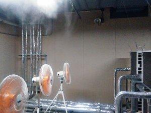 エアコンの冷房効率改善対策【ミスト発生機の販売事例】