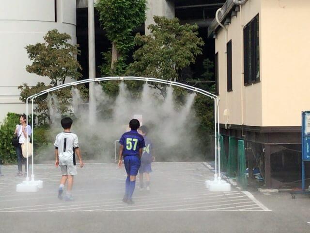 少年サッカー大会での暑さ対策【ユニバーサルミストのレンタル事例】