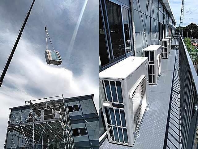 完成前の仮設事務所への設置対応【エアコンのレンタル事例】