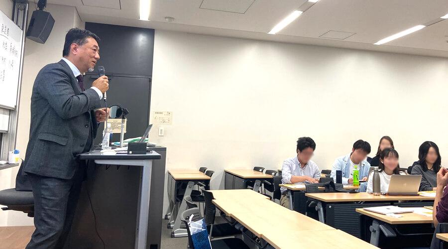 慶応義塾ゼミ講演の様子