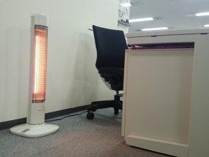 オフィス内の寒さ対策【カーボンヒーターのレンタル事例】