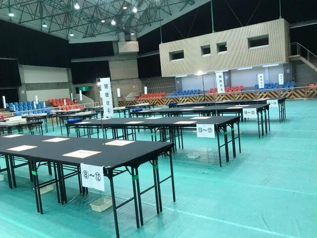 公正な開票作業対策【選挙開票所備品のレンタル事例】