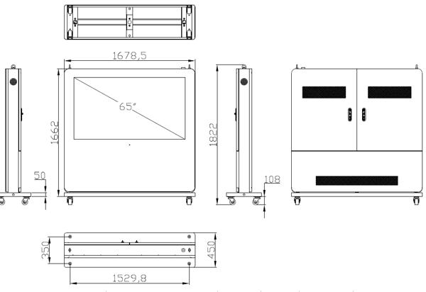 65インチ-屋外用横型サイネージディスプレイ_レイアウト