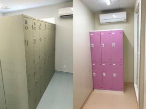 現場事務所の更衣室
