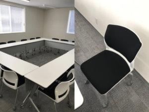 現場事務所の会議室